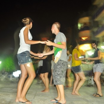 ESSC students dancing salsa in cyprus