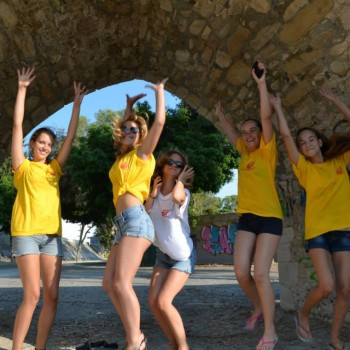 Students smiling in cyprus