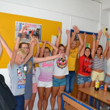 Students learning english in Cyprus